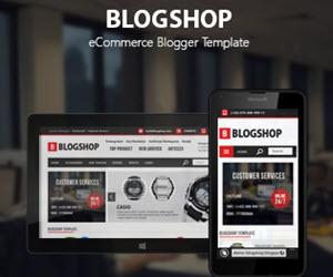 Blogshop - Ecommerce Blogger Templates