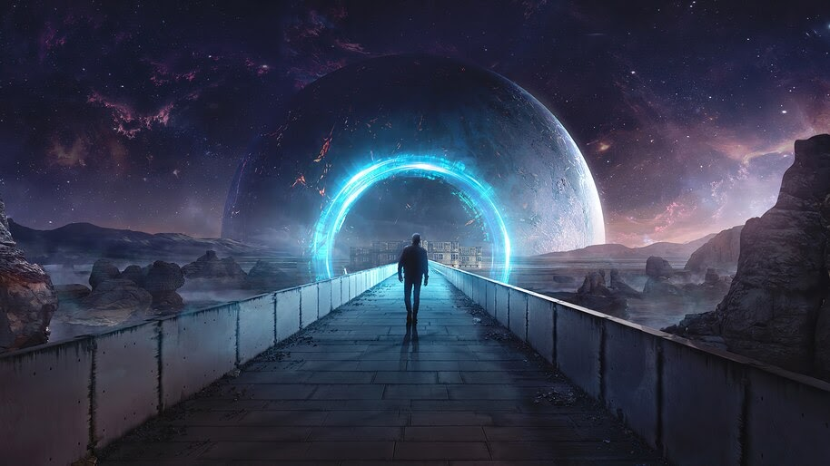 Space, Planet, Portal, Digital Art, 4K, #6.1037