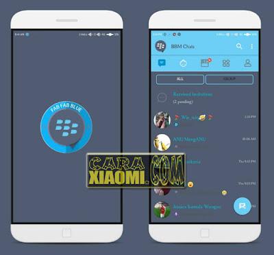 Link Download Tema MIUI Fab Fab Blue Mtz Themes For Xiaomi MIUI Terbaru By Anto Randeam