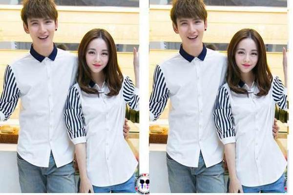 Kemeja Couple ALA Korea! Trend Terbaru Baju SEPASANG Murah! 9b97fa0ec5