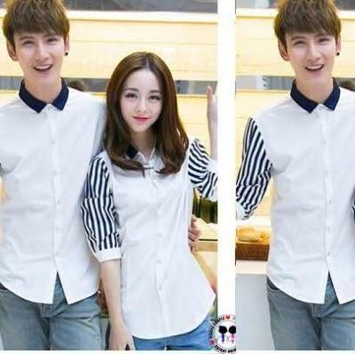 Kemeja Couple ALA Korea! Trend Terbaru Baju SEPASANG Murah!