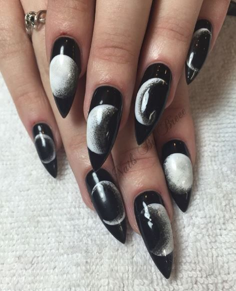 Moon Phase Nail Designs