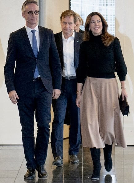 Crown Princess Mary wore Co Essentials Black High Collar Sweater