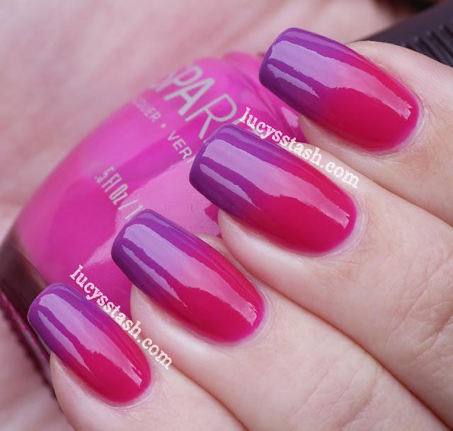 SpaRitual Color Trip and Illume gradiend manicure