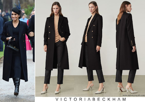 Meghan Markle wore Victoria Beckham Tailored Slim Coat