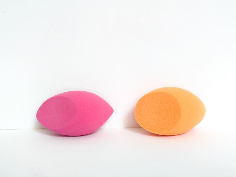 left peggy sage makeup sponge - right real techniques miracle complexion sponge