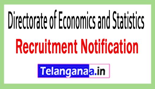 Directorate of Economics and Statistics DES Recruitment