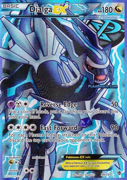 Dialga EX Full Art -- Plasma Blast Pokemon Card Review ...