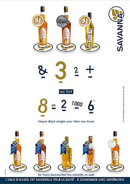 publicité rhums savanna, médaille concours