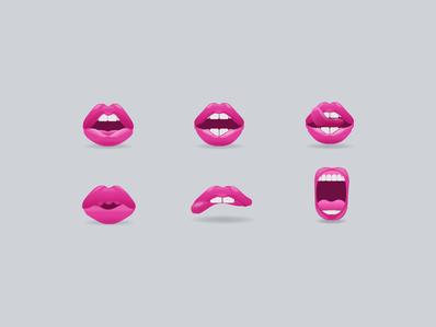 Lip Emoji icons