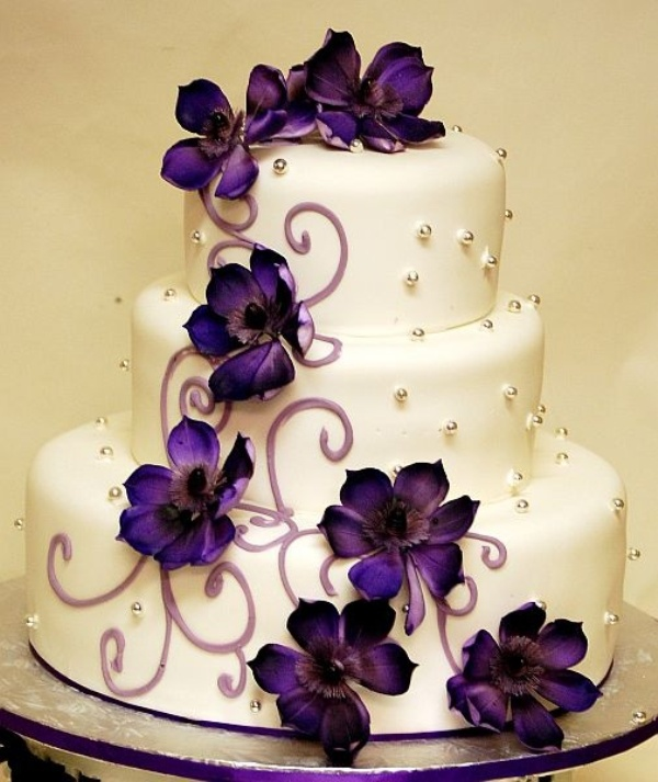 Purple Wedding Cake Ideas