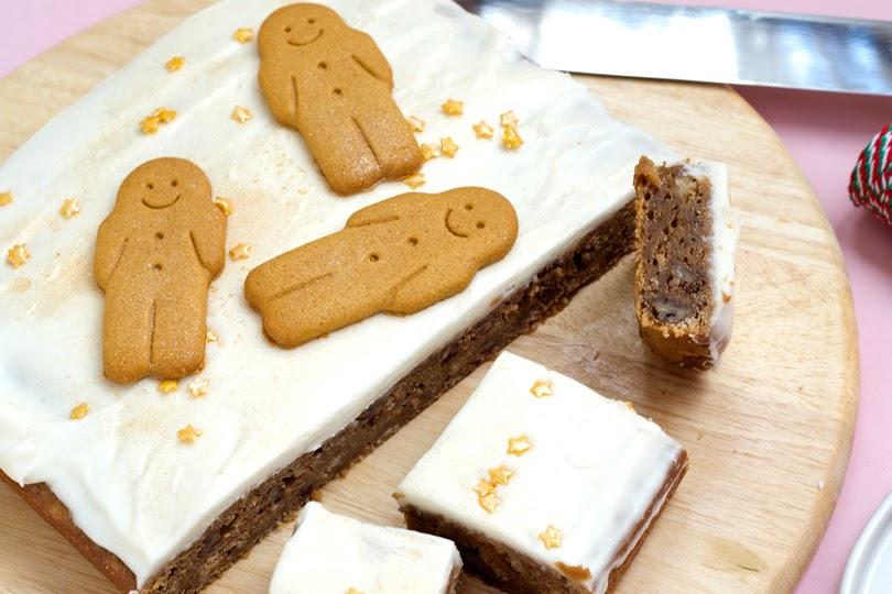 vegan gingerbread walnut blondies