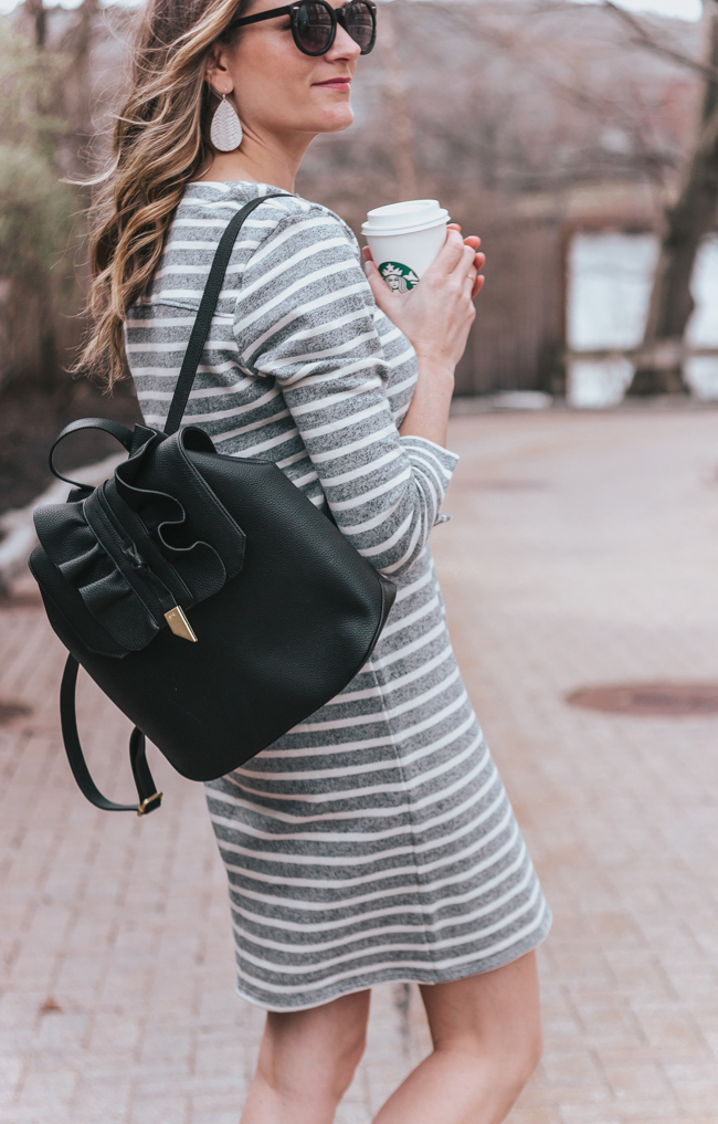 Black Backpack #backpack #foleyandcorinna