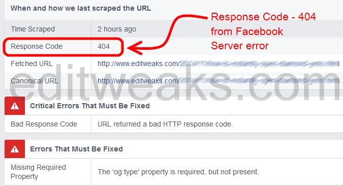 Facebook's Servers errors