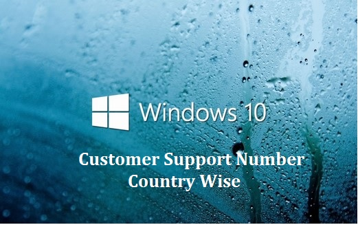 Windows 10 Customer Support Toll free Number worldwide