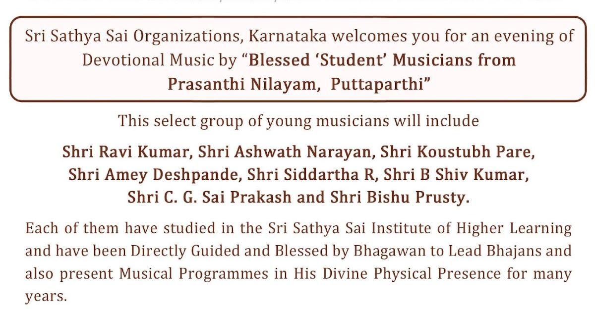 Live SSpiritually: Prashanthi Manidr Bhajans at Brindavan