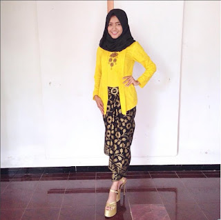 kebaya kutu baru hijab padu padan songket