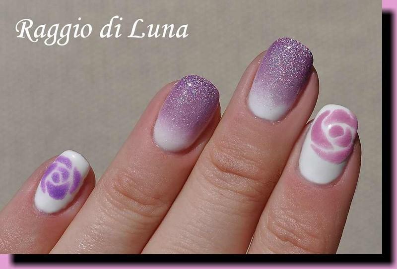 Raggio di luna nails uv gel manicure with free hand nail art bp uv gel top coat polish transparent acrylic powder prinsesfo Image collections