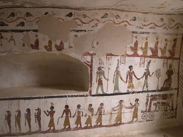 Paintings from the tomb of Sadosiris at Muzawaka (XVIII)