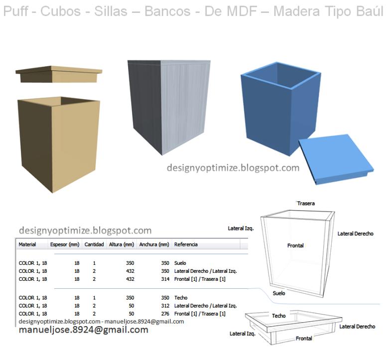 Diseño De Muebles Madera: Construir Puff - Cubos - Sillas - Bancos ...