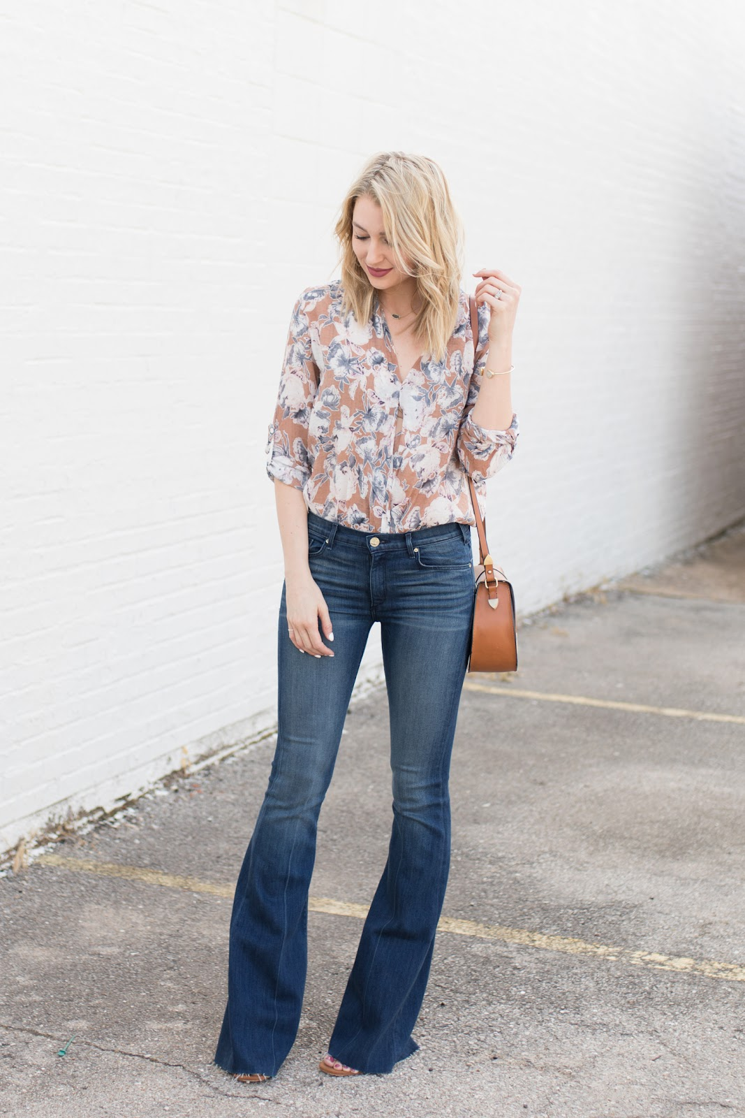 70s inspired flare jeans