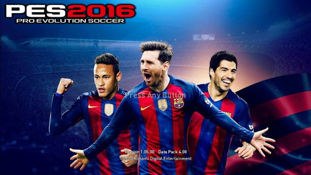 PES 2016 MSN Start Screen