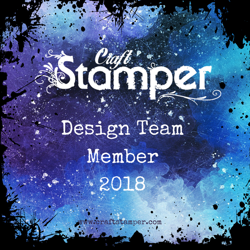 I'm a member of the Craft Stamper Design Team for 2018