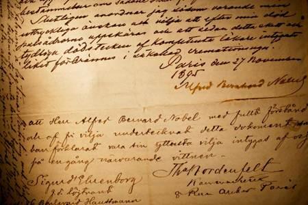 Testamenti i Alfred Nobel