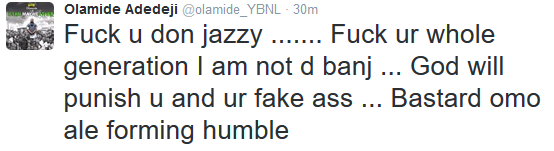 Oh Boy!!Olamide throws shots at Don Jazzy on Twitter after clash at Headies awards