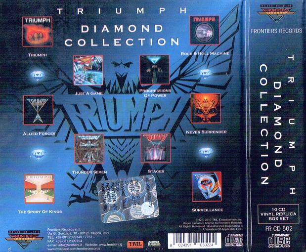 TRIUMPH - Diamond Collection [Ltd. Edition 10-CD Box Set remastered] box