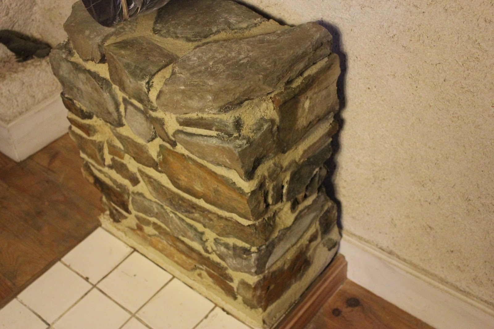 Home-made stone storage heater - finished
