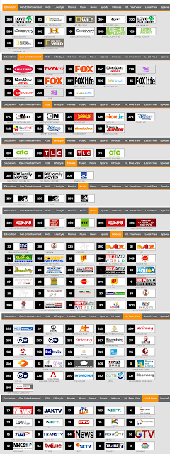 List Channel Paket First Media Combo Dlite