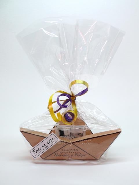 Packaging barco detalle de boda