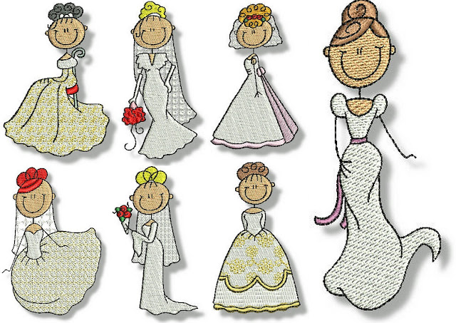 Embroidered Images of Brides.