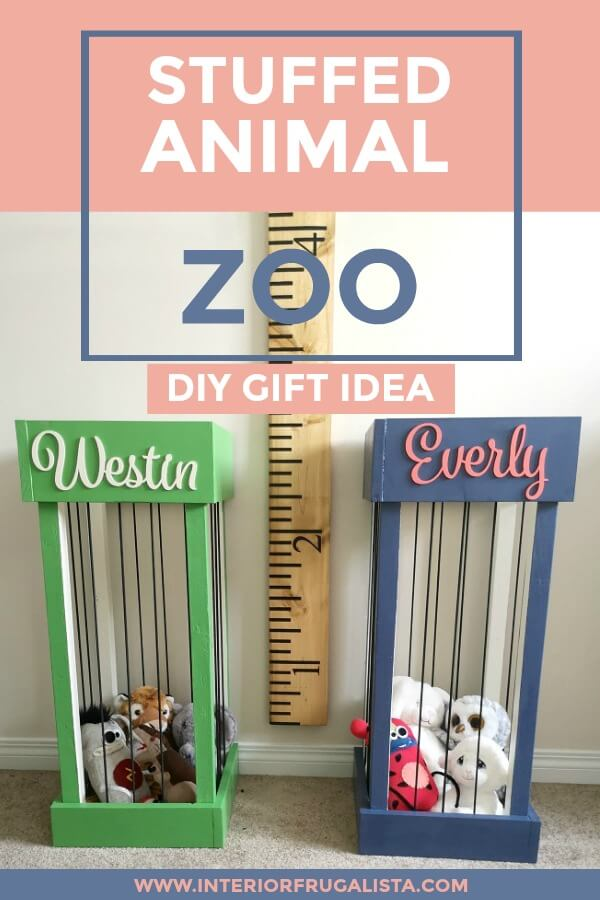 These DIY Stuffed Animal Zoos are a cute idea for kids rooms to keep their stuffies corralled in one place, a great gift idea that is simple to make.