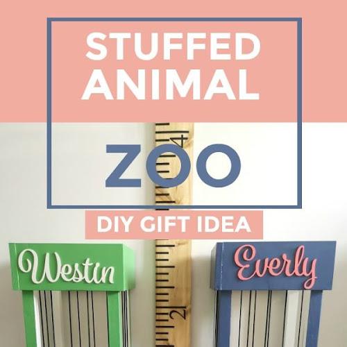 Adorable DIY Stuffed Animal Zoo Gift Idea