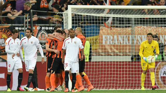 [Video] Cuplikan Gol Shakhtar Donetsk 2-2 Sevilla (Liga Eropa)