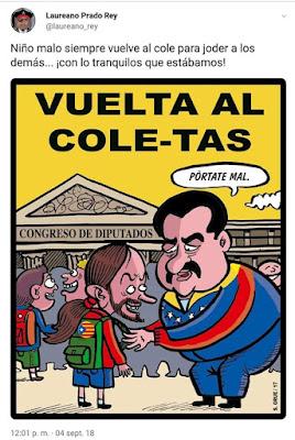 Vuelta al cole-tas, Maduro, Pablo Iglesias
