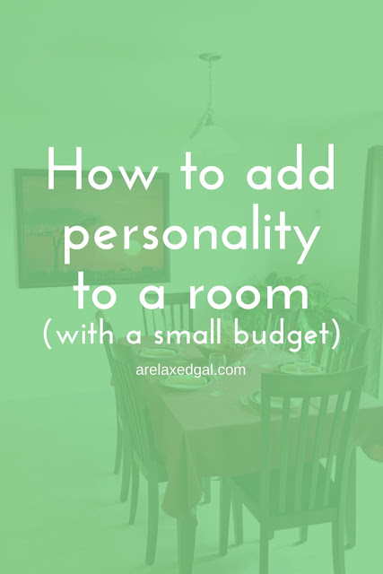 Home decor tip: Adding personality to a room with wall art on a small budget | arelaxedgal.com
