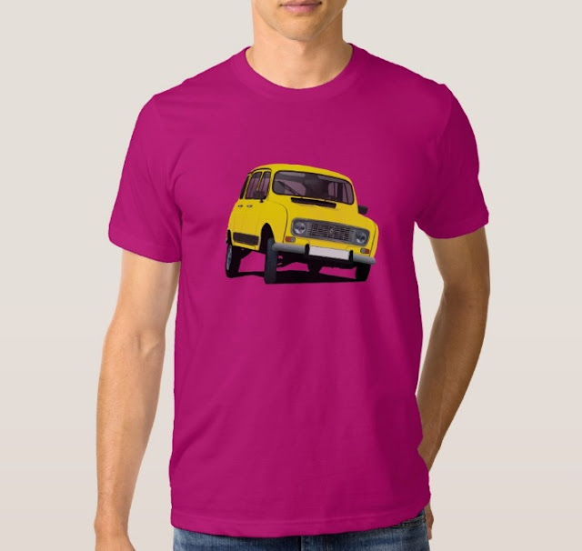 Cool automobile Renault 4 t-shirts