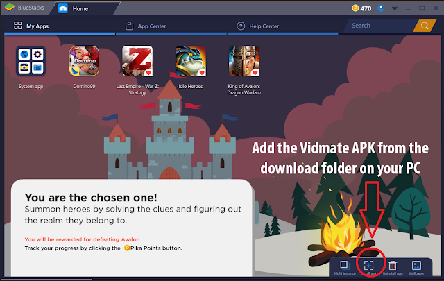 Vidmate 2018 For PC Install with Bluestacks