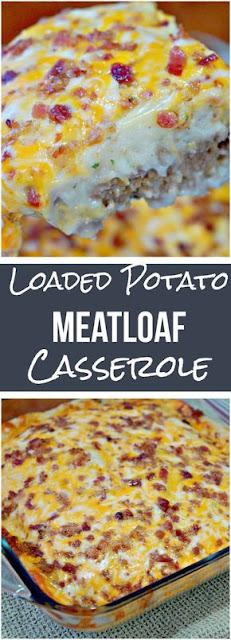 Loaded Potato & Meatloaf Casserole
