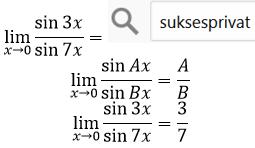 limit sin per sin