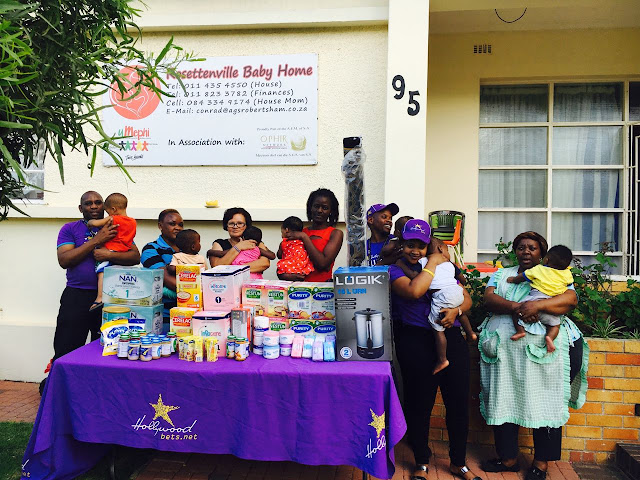Rosettenville Baby Home - Hollywoodbets donation - Newtown Mall