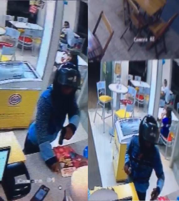 Assaltante rende clientes e funcionários e depois rouba sorveteria em Cacoal