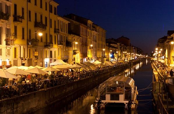 Região de Navigli em Milão