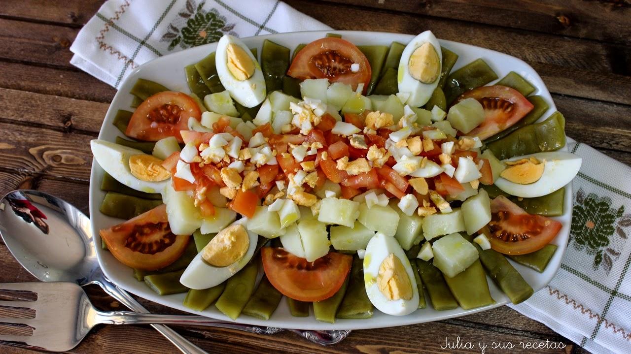 Julia y sus recetas ensalada de jud as verdes reto for Comidas rapidas y sanas