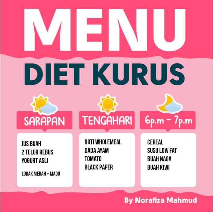 Menu diet untuk kurus dan dapatkan kulit cantik