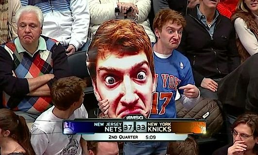 funny sports fan New Jersey Nets vs New York Knicks