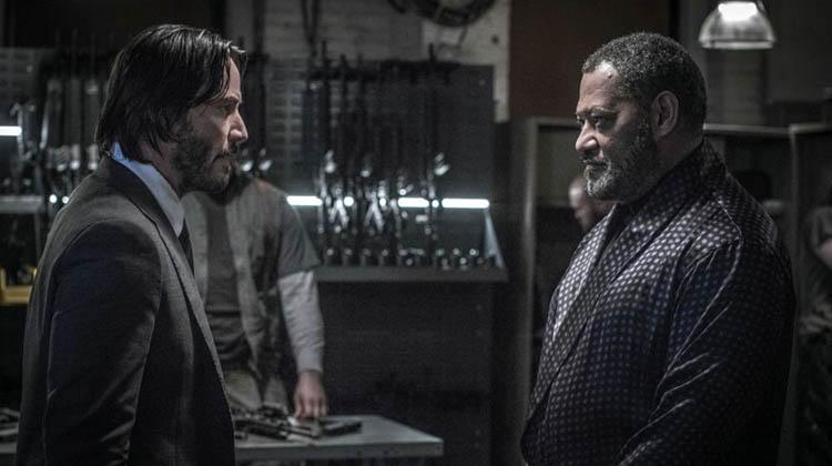 Laurence Fishburne y Keanu Reeves en John Wick:Pacto de Sangre